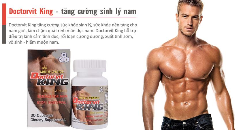 Doctorvit King tăng cường sức khỏe sinh lý nam