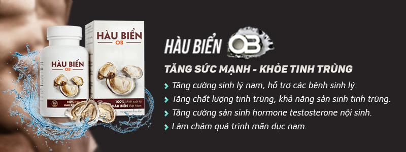 Hàu biển OB có nhiều công dụng với sinh lý nam