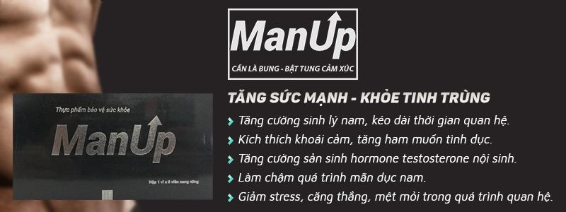 ManUP giúp tăng cường sinh lý nam, nâng cao giới hạn