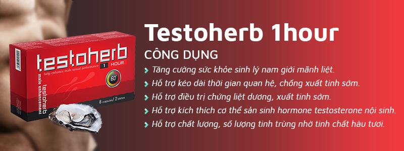 Công dụng của Testoherb 1hour giúp tăng cường sinh lý