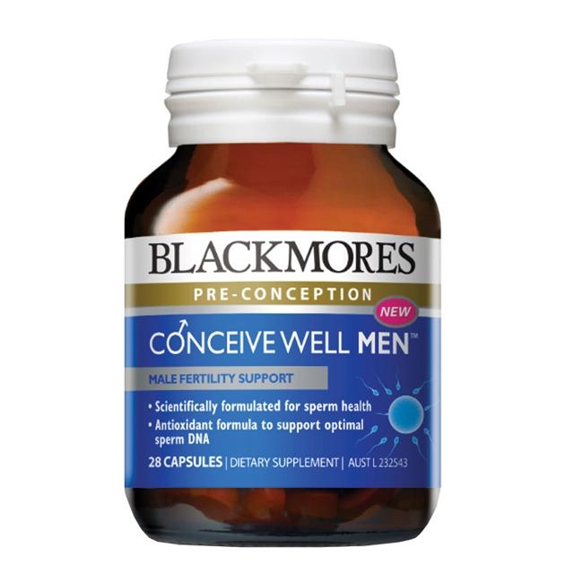 Blackmores Conceive Well Men với các dưỡng chất thiết yếu