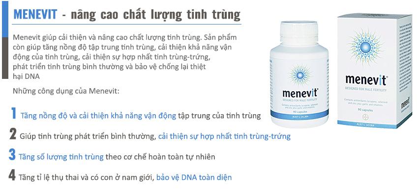 Công dụng Viên uống Menevit