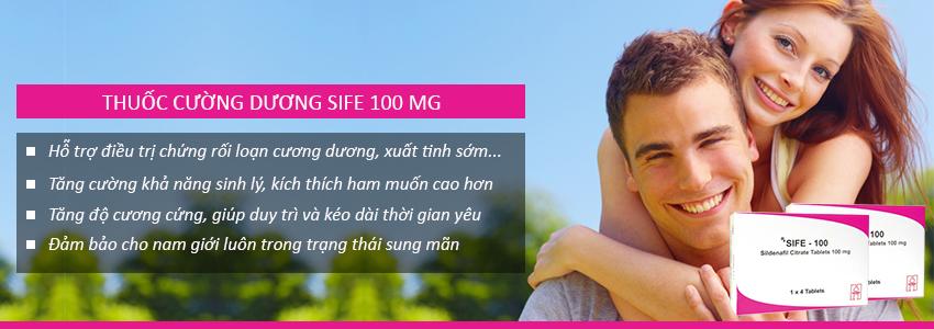 Công dụng thuốc cường dương Sife 100mg