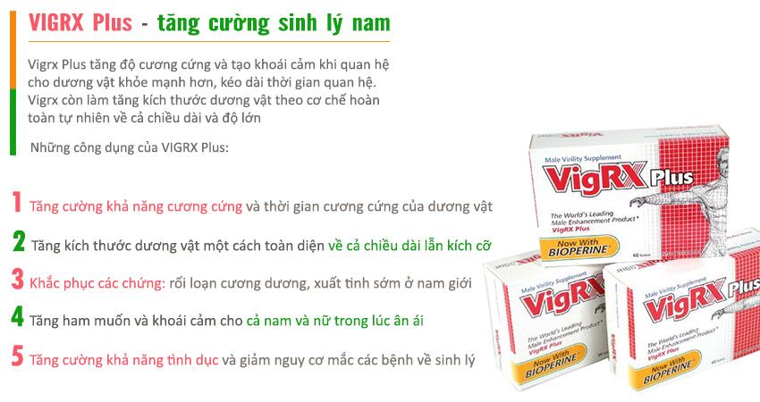 Công dụng Viên uống Vigrx Plus