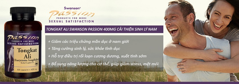 Công dụng Tongkat Ali Swanson Passion 400mg