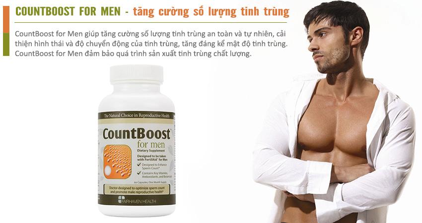 CountBoost for Men tăng cường số lượng và chất lượng tinh trùng