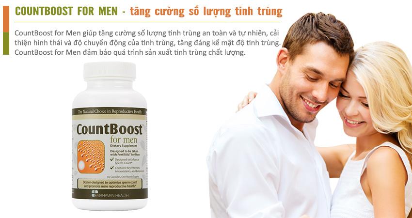 CountBoost for Men lựa chọn hoàn hảo cho nam giới hiếm muộn