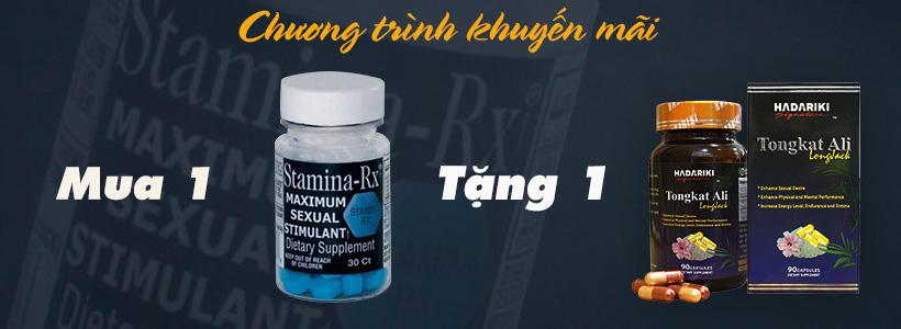 Chương trình khuyến mãi khi mua Stamina-Rx