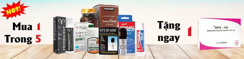 Chương trình khuyến mãi khi mua Thuốc kéo dài thời gian quan hệ