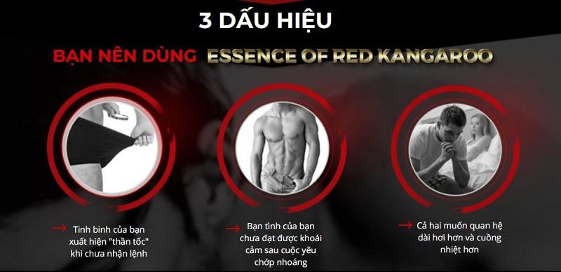 Dấu hiệu nên sử dụng Essence Of Red Kangaroo 20800mg