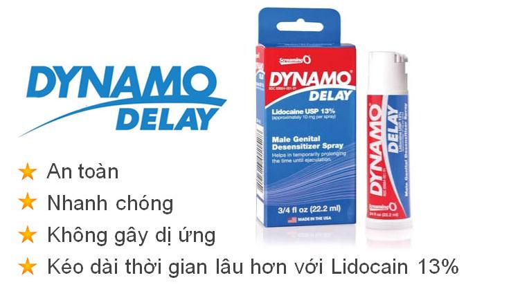Dynamo Delay giải pháp giúp kéo dài hưng phấn và thời gian quan hệ