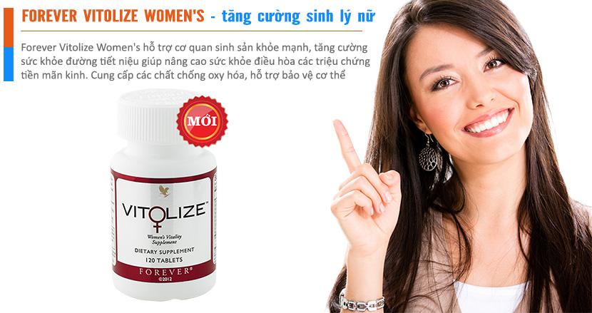 Forever Vitolize Women's tăng cường sức khỏe sinh lý nữ 120 viên