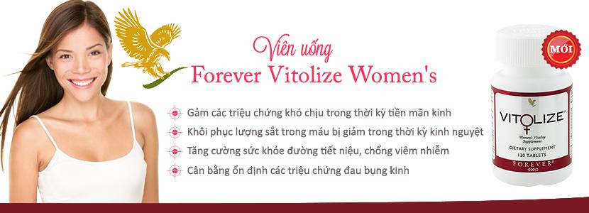 Công dụng viên uống Forever Vitolize Women's tăng cường sức khỏe sinh lý nữ