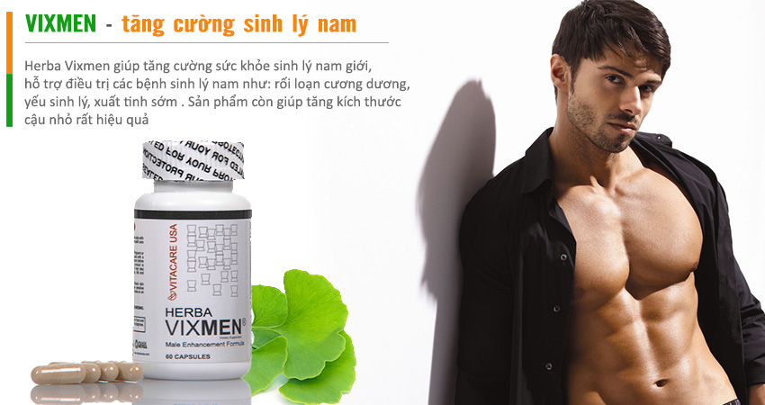 Vixmen giúp tăng cường sinh lý nam an toàn và hiệu quả