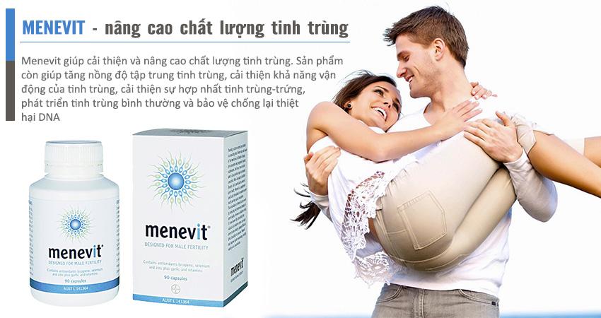 Menevit giúp cải thiện số lượng và chất lượng tinh trùng