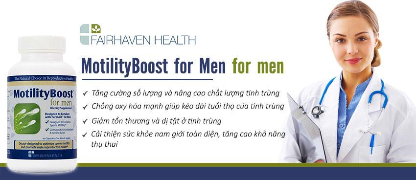 Công dụng Viên uống MotilityBoost for Men