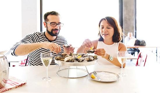 Mỗi ngày ăn từ 2-3 con hàu sẽ giúp cơ thể sản sinh Testosterone cần thiết