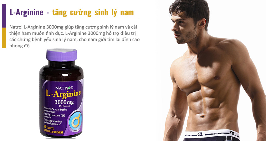 Natrol L-Arginine 3000mg tăng cường sinh lý nam