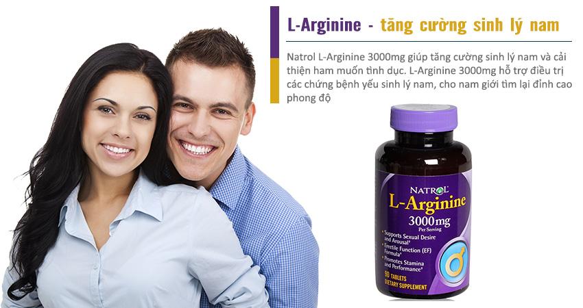 Natrol L-Arginine 3000mg bí quyết cho tình yêu luôn hạnh phúc