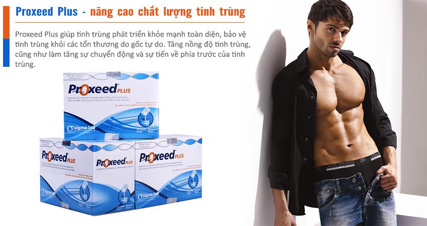 Proxeed Plus cải thiện chất lượng tinh trùng