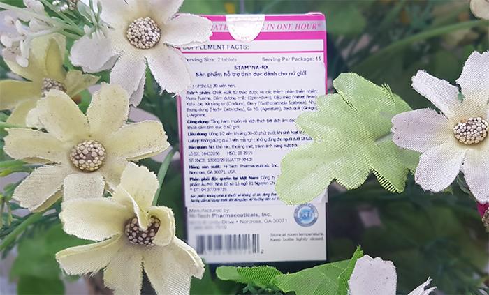 Stamina Rx for Women được chiết xuất từ các loại thảo dược tự nhiên