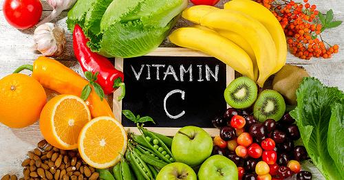 Trái cây rau xanh tự nhiên chứa nhiều Vitamin C
