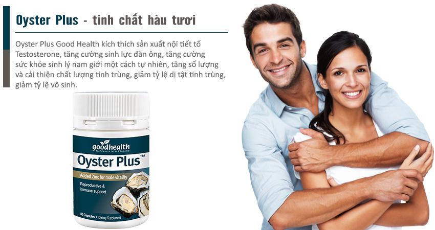 Oyster Plus sự lựa chọn hàng đầu cho sức khỏe sinh lý nam