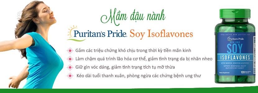 Công dụng tinh chất mầm đậu nành Puritan's Pride Soy Isoflavones