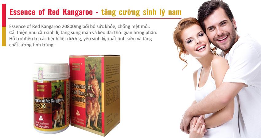 Essence of Red Kangaroo bí quyết cho nam giới luôn mạnh mẽ