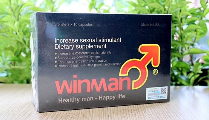 WinMan kích thích cơ thể sản sinh Testosterone tăng cường sinh lý nam