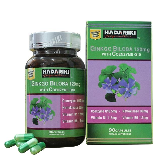 Hadariki Signature Ginkgo Biloba 120MG With Coenzym Q10 tăng cường tuần hoàn máu não