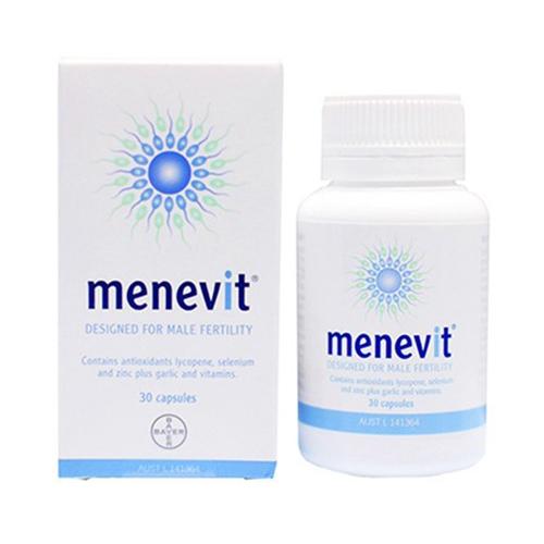 Menevit cải thiện nâng cao chất lượng tinh trùng, Hộp 30 Viên