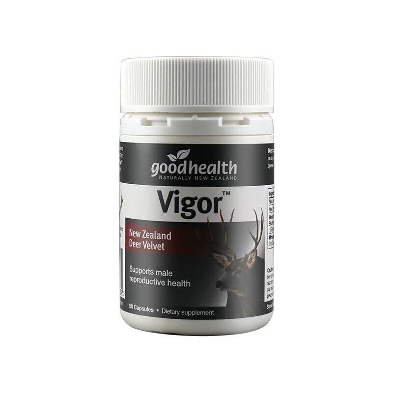 Nhung Hươu Goodhealth Vigor giúp bổ máu, tăng cường sinh lý, Chai 50 viên