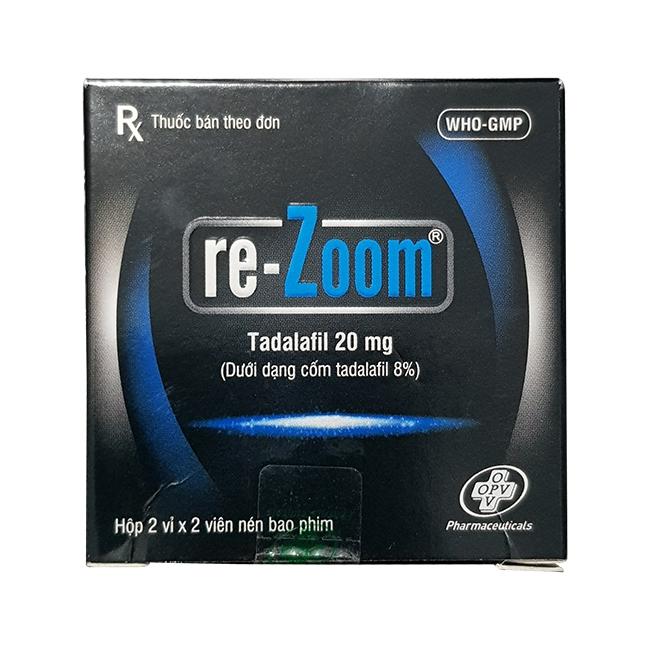 Thuốc cường dương Re-Zoom 20mg, Hộp 4 viên