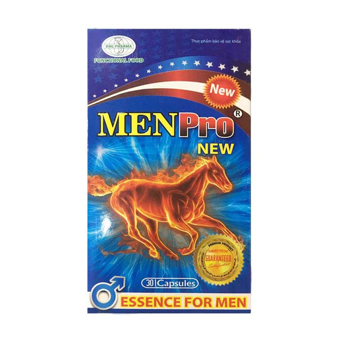 Tăng cường sinh lý phái mạnh Menpro New, Hộp 30 Viên
