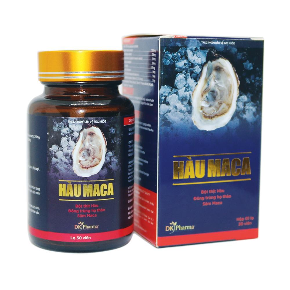 Thực phẩm bảo vệ sức khỏe Hàu Maca DKpharma, Hộp 30 viên
