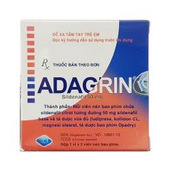 Thuốc cường dương Adagrin 50mg, Hộp 3 viên