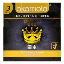 Bao Cao Su Okamoto Crown, Hộp 3 Cái