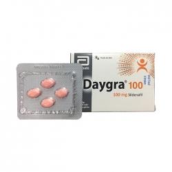 Thuốc cường dương Daygra 100mg, Hộp vỉ 4 viên