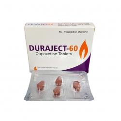 Thuốc dường dương kéo dài thời gian quan hệ Duraject 60mg, Hộp 4 viên