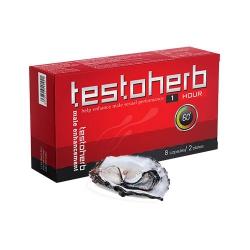 Testoherb 1hour tăng cường sinh lực cho nam giới, Hộp 8 viên