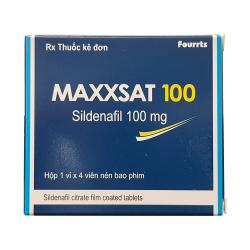 Thuốc cường dương MAXXSAT 100, Hộp 4 viên