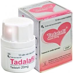 Thuốc cường dương Tadalafil 20mg - Chai 10 viên