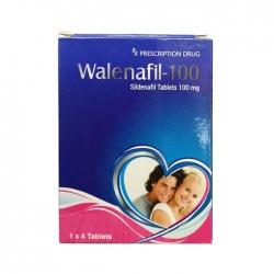 Thuốc cường dương Walenafil 100mg, Hộp 4 viên