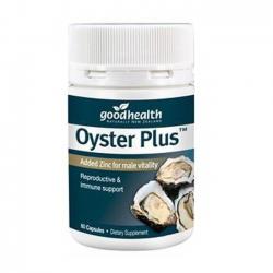 Tinh chất hàu tươi Goodhealth Oyster plus New Zealand, Chai 60 viên