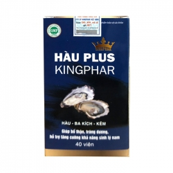 Tpbvsk sinh lý nam Kingphar Hàu Plus, Chai 40 viên