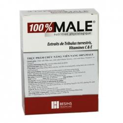 Viên uống 100% Male, Hộp 30 Viên