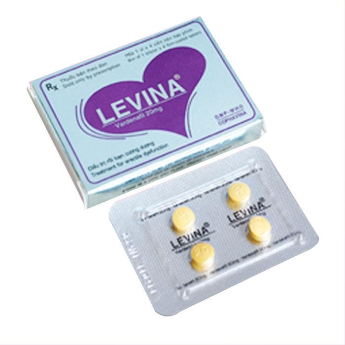 Thuốc cường dương Levina 20mg, Hộp 4 viên