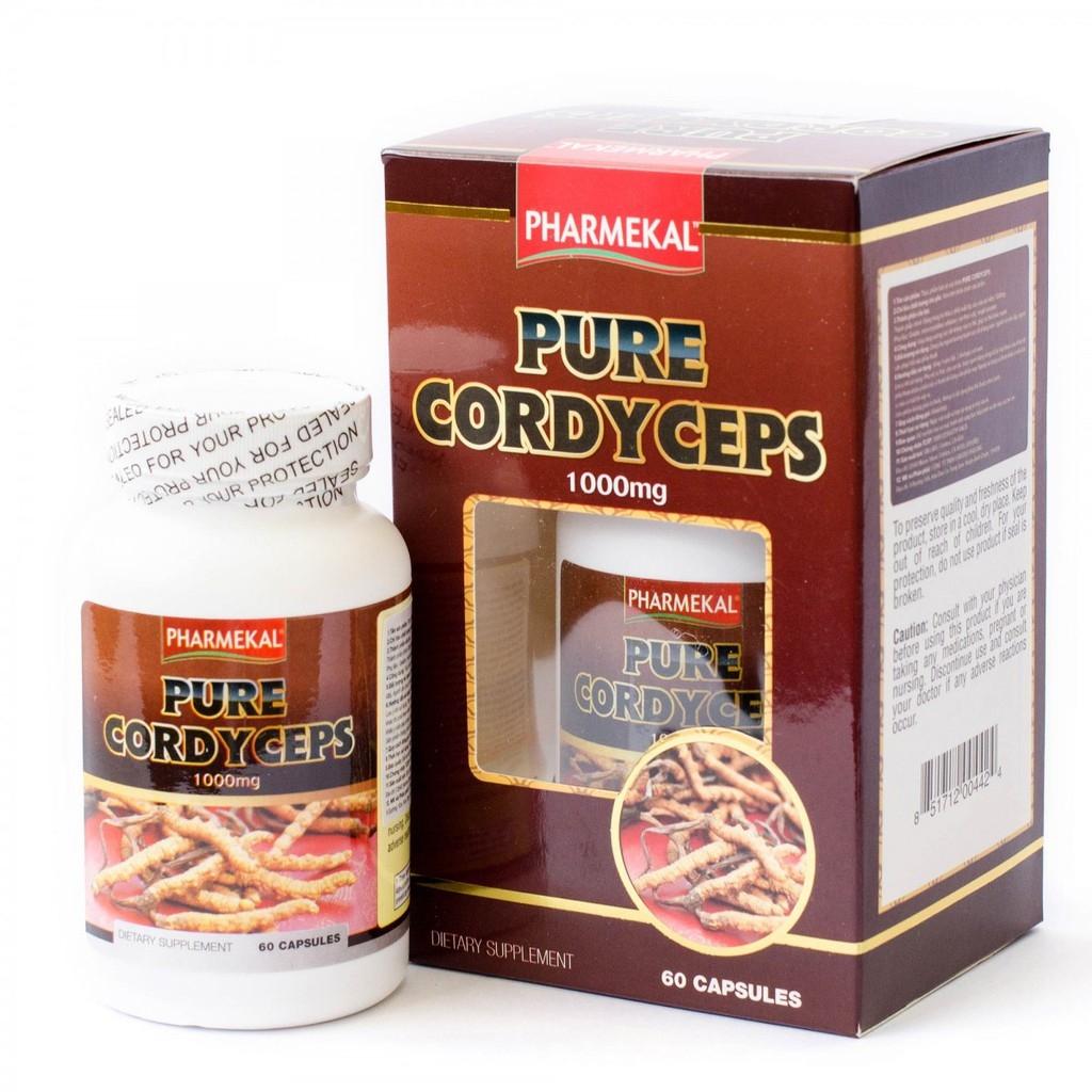 Tpbvsk đông trùng hạ thảo Pharmekal Pure Cordyceps, Chai 60 viên