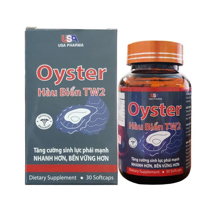 Tpbvsk tinh chất Hàu biển Oyster TW2 USA Pharma, Hộp 30 viên